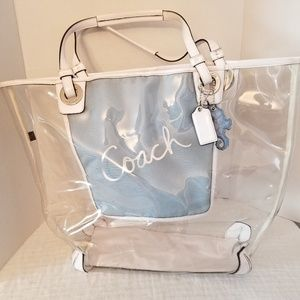 Coach Extra Large Clear Beach Tote F16594